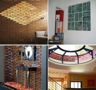 Glass Blocks of Poesia in Interiors Zone