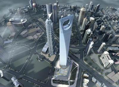 طرح اولیه ساختمان مركز مالی جهانی شانگهای