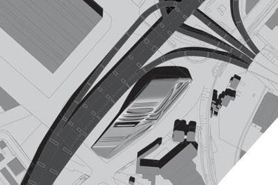 Car Design Center, by Manfred Hermann, Studio Greg Lynn Site Plan