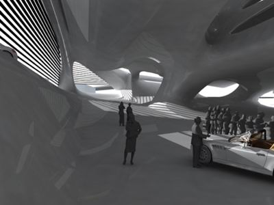 Car Design Center, by Manfred Hermann, Studio Greg Lynn Mood Atrium